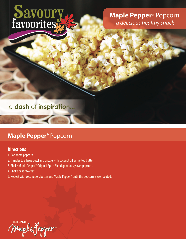 Maple Pepper Popcorn Recipe